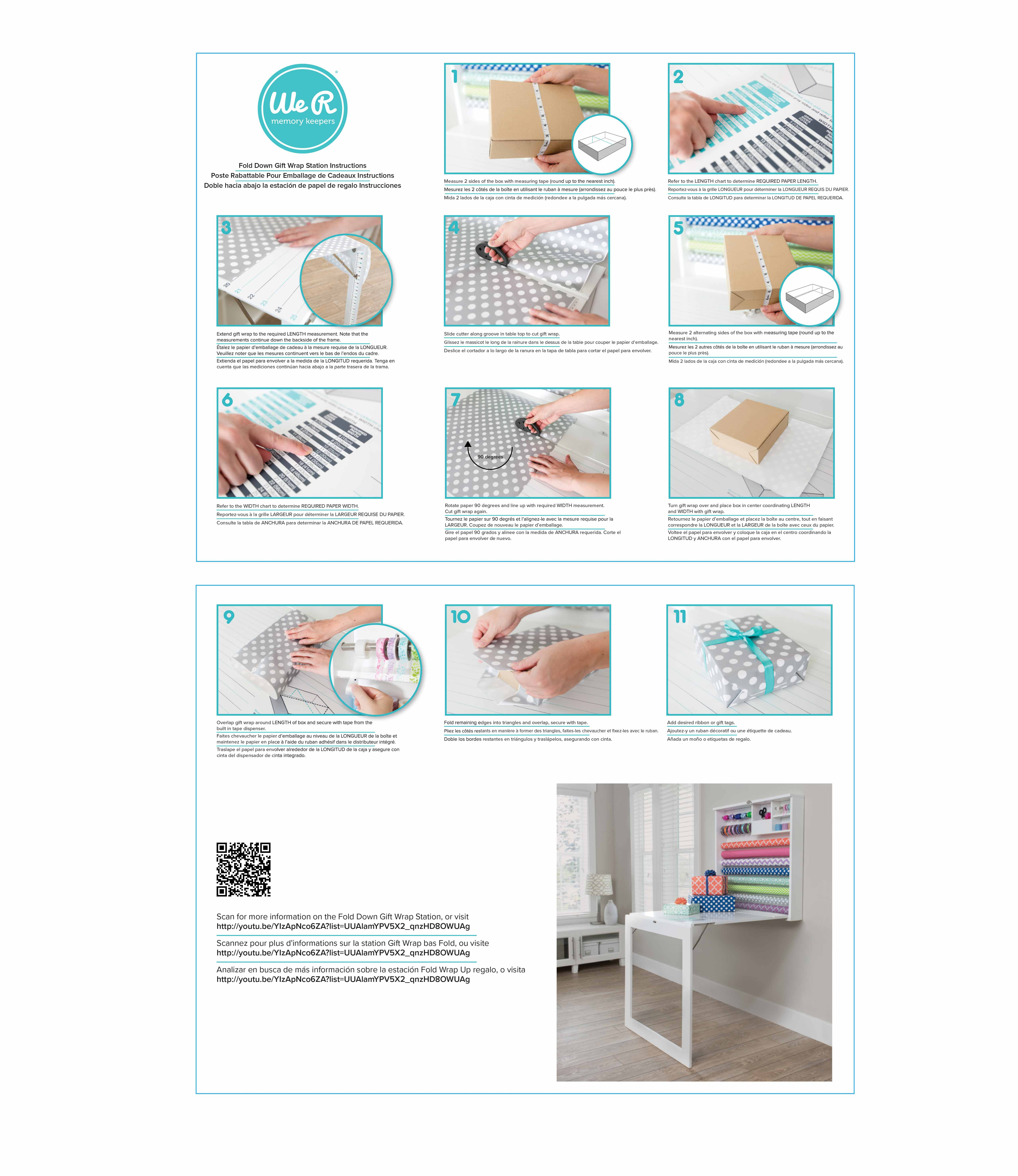 Storage Gift Wrap Staion Instructions We R Memory Keepers