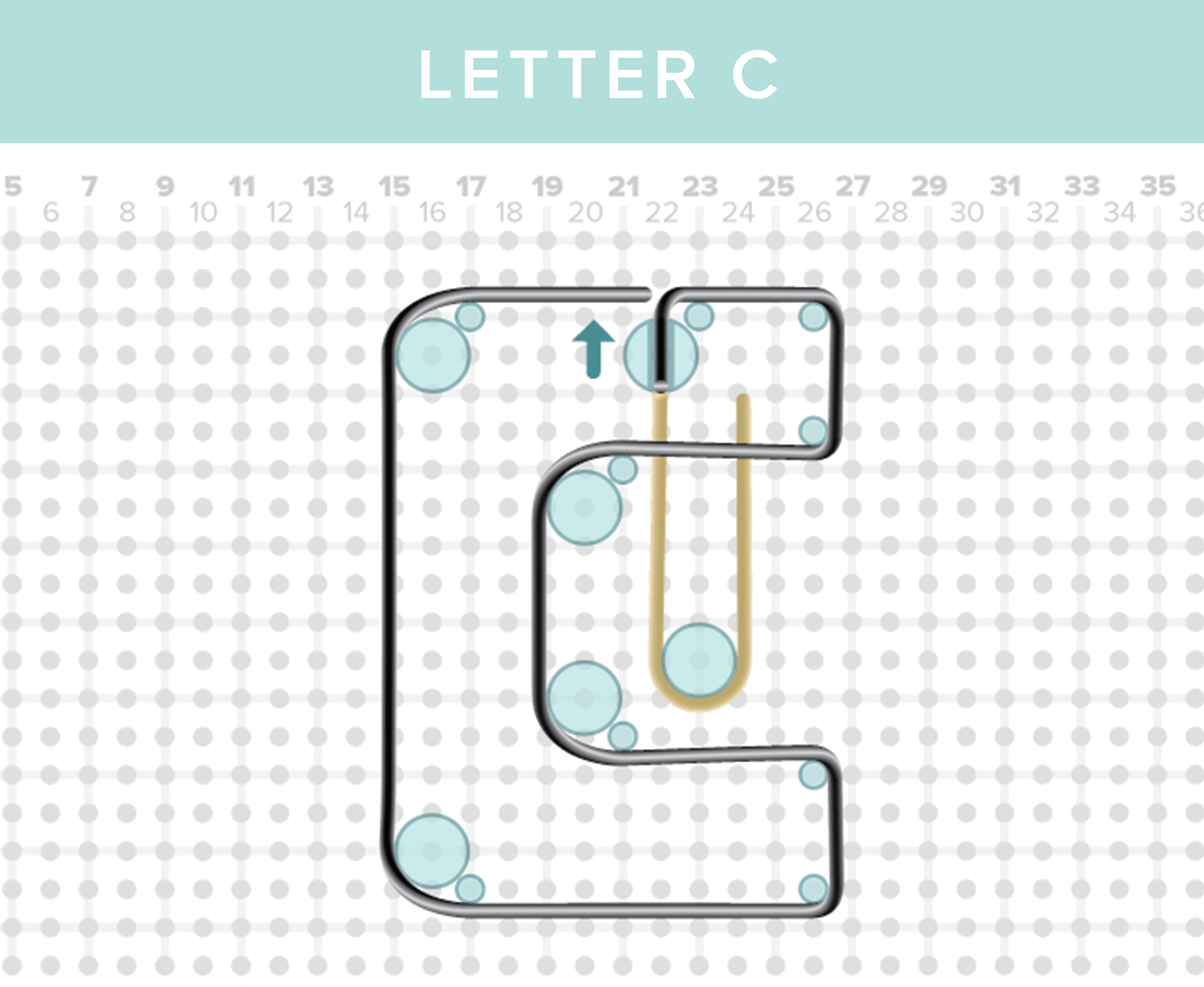 Wr Instructions Happy Jig Letter C We R Memory Keepers